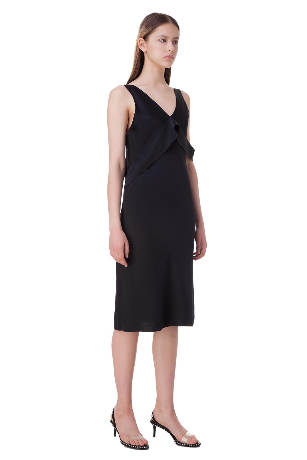 Платье с воланом HELMUT LANG HLw10015
