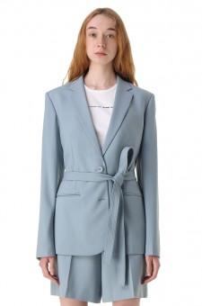 Пиджак со съемным поясом