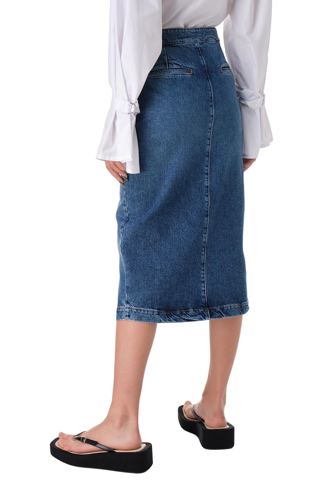 Джинсовая юбка с эффектом потертостей HOUSE OF DAGMAR HOD11002