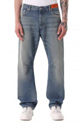 HERON PRESTON Удлиненные джинсы с эффектом потертостей