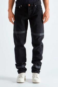 Удлиненные джинсы с принтом