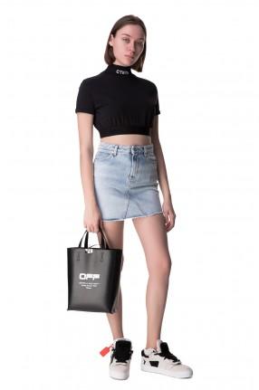 HERON PRESTON Джинсовая юбка с эффектом потертостей