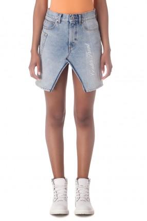 HERON PRESTON Джинсовая юбка с вышивкой