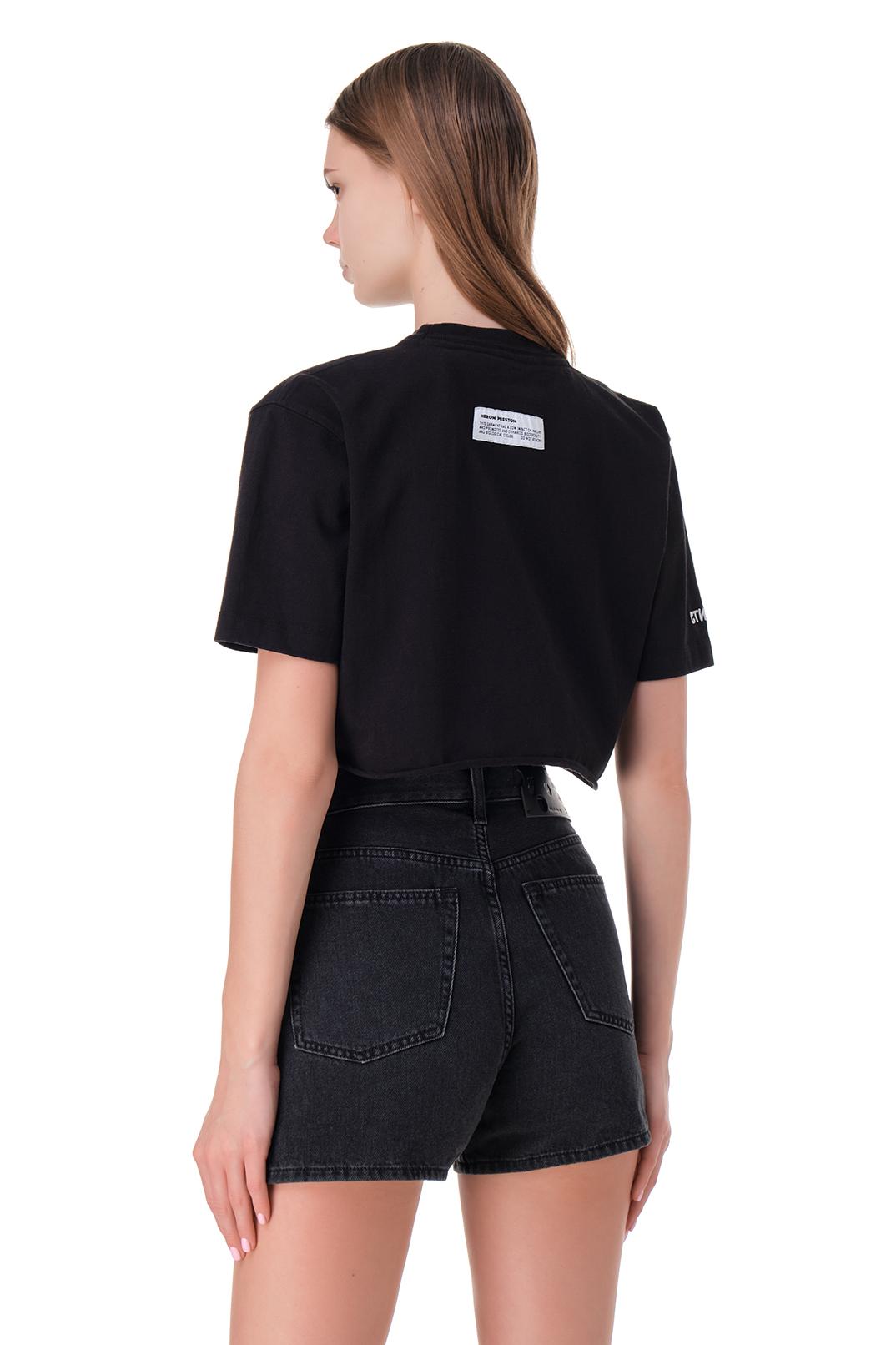Укороченная футболка с принтом HERON PRESTON HPw11008