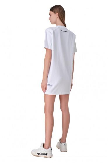Платье-футболка с логотипом HERON PRESTON HPw11022