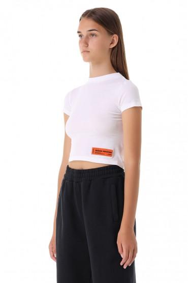 Укороченная футболка с принтом HERON PRESTON HPw21002