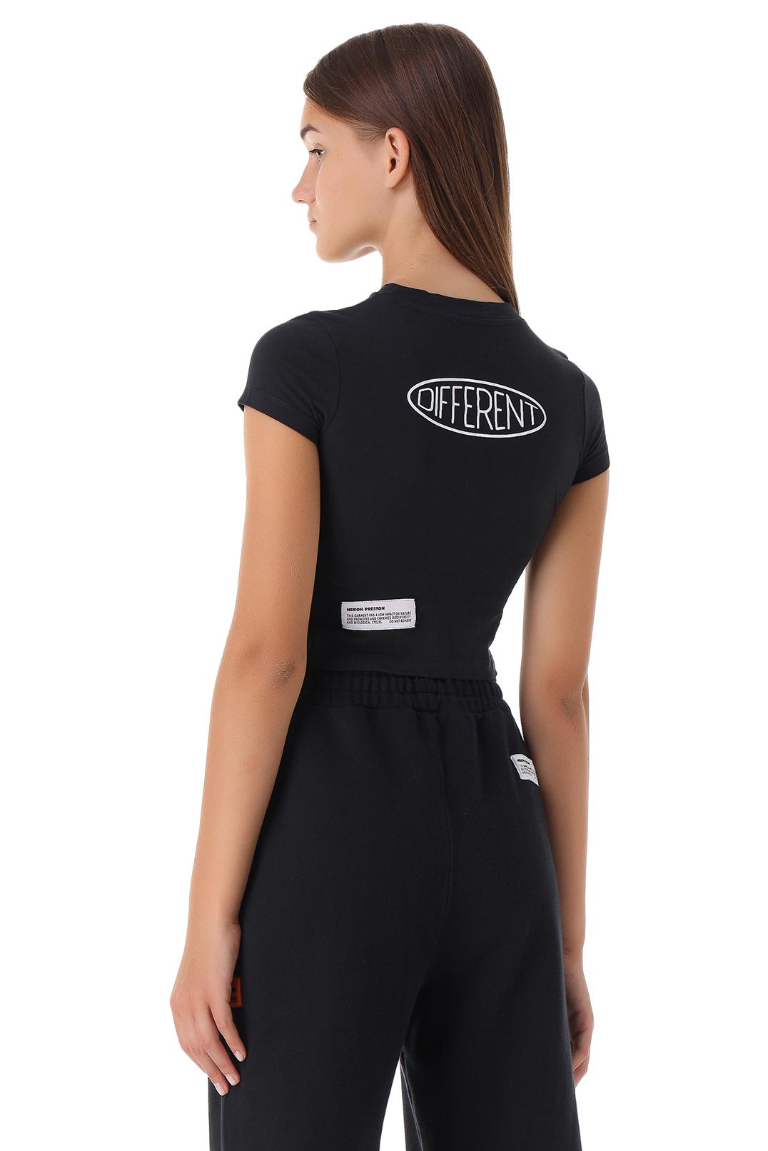 Укороченная футболка с принтом HERON PRESTON HPw21003