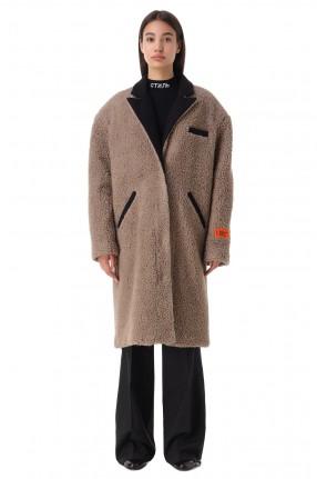 HERON PRESTON Пальто из эко-меха