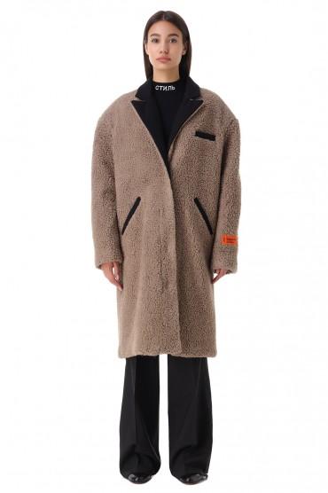 Пальто из эко-меха HERON PRESTON HPw21018