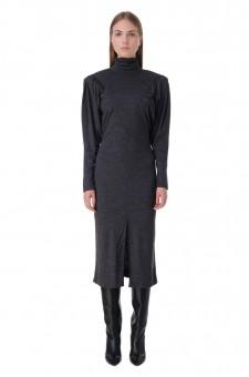 Платье c подплечниками