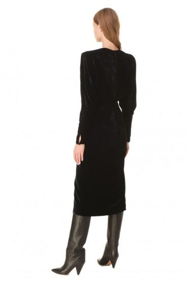 Бархатное платье с разрезом ISABEL MARANT IMw20004