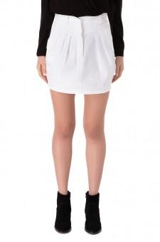 Джинсовая юбка с защипами
