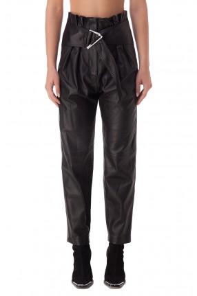 IRO Укороченные кожаные брюки