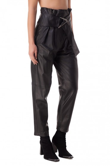 Укороченные кожаные брюки IRO IROp20020