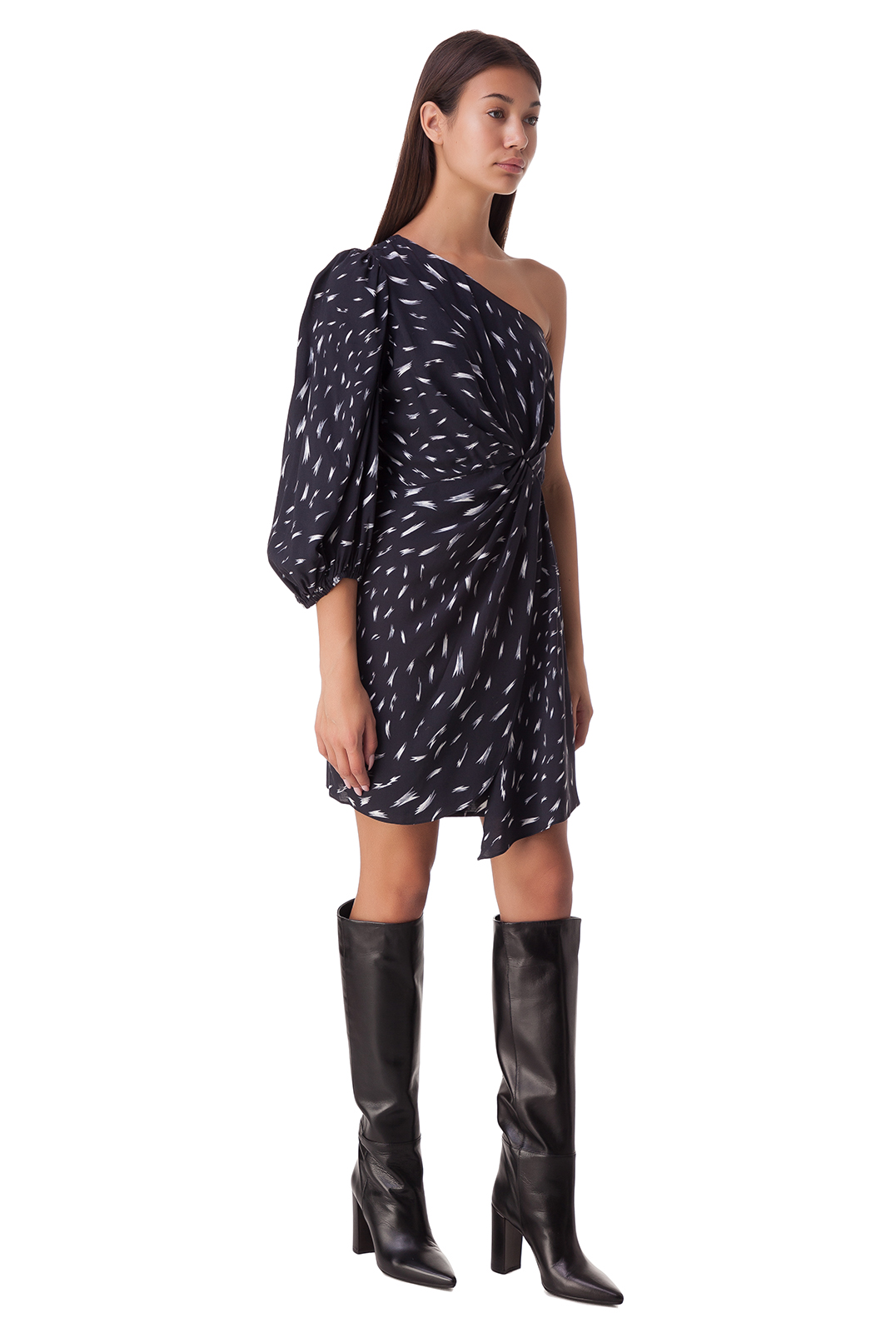 Асимметричное платье с принтом IRO IROp20029
