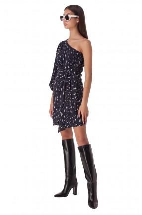 IRO Асимметричное платье с принтом