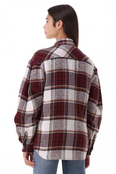 Рубашка oversize в клетку IRO IROp21004
