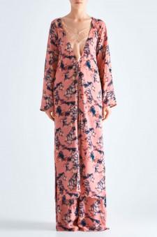 Удлиненная блуза на завязках