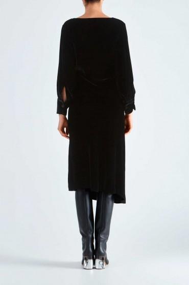 Бархатное асимметричное платье IRO IROw29007