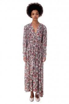 Асимметричное платье с принтом BLAINE