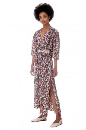 ISABEL MARANT Асимметричное платье с принтом BLAINE