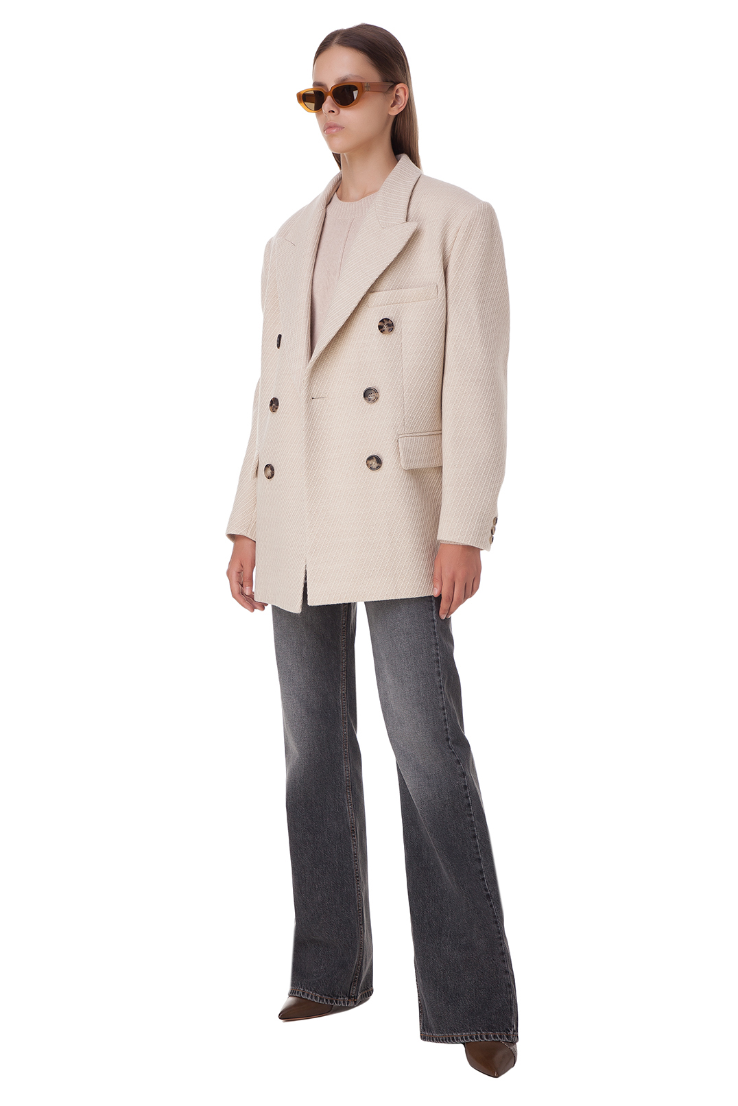 Двубортное пальто ISABEL MARANT ISBp20001