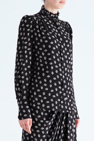 Блуза с принтом ISABEL MARANT ISBw29005