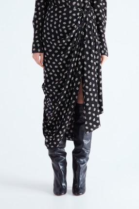ISABEL MARANT Драпированная юбка с принтом