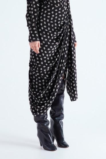 Драпированная юбка с принтом ISABEL MARANT ISBw29006