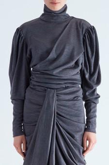 Драпированный свитер