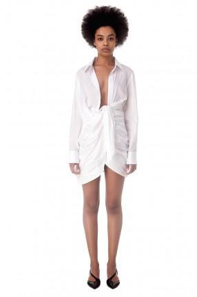JACQUEMUS Драпированное платье-рубашка La robe Bahia