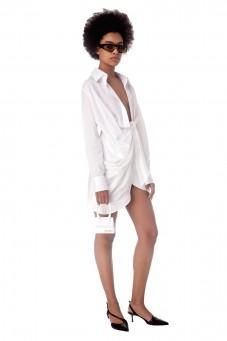 Драпированное платье-рубашка La robe Bahia от
