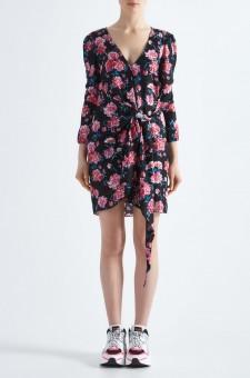 Платье c цветочным принтом