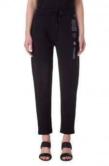 Укороченные брюки с принтом