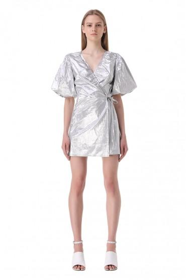 Платье на запах в полоску LES COYOTES DE PARIS LCDP11009