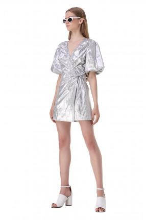 LES COYOTES DE PARIS Платье на запах в полоску