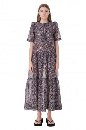 LES COYOTES DE PARIS Платье с принтом