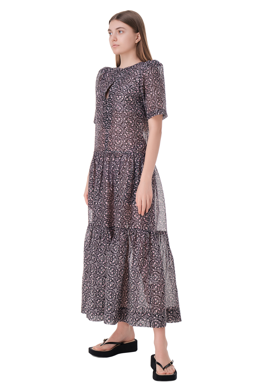 Платье с принтом LES COYOTES DE PARIS LCDP11010
