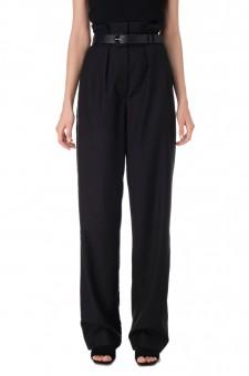 Удлиненные брюки с защипами