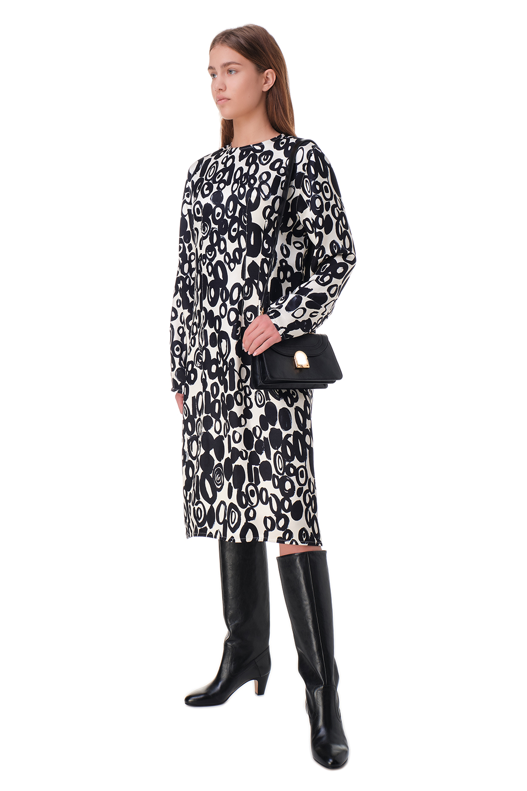 Платье с принтом MARNI MAR20003