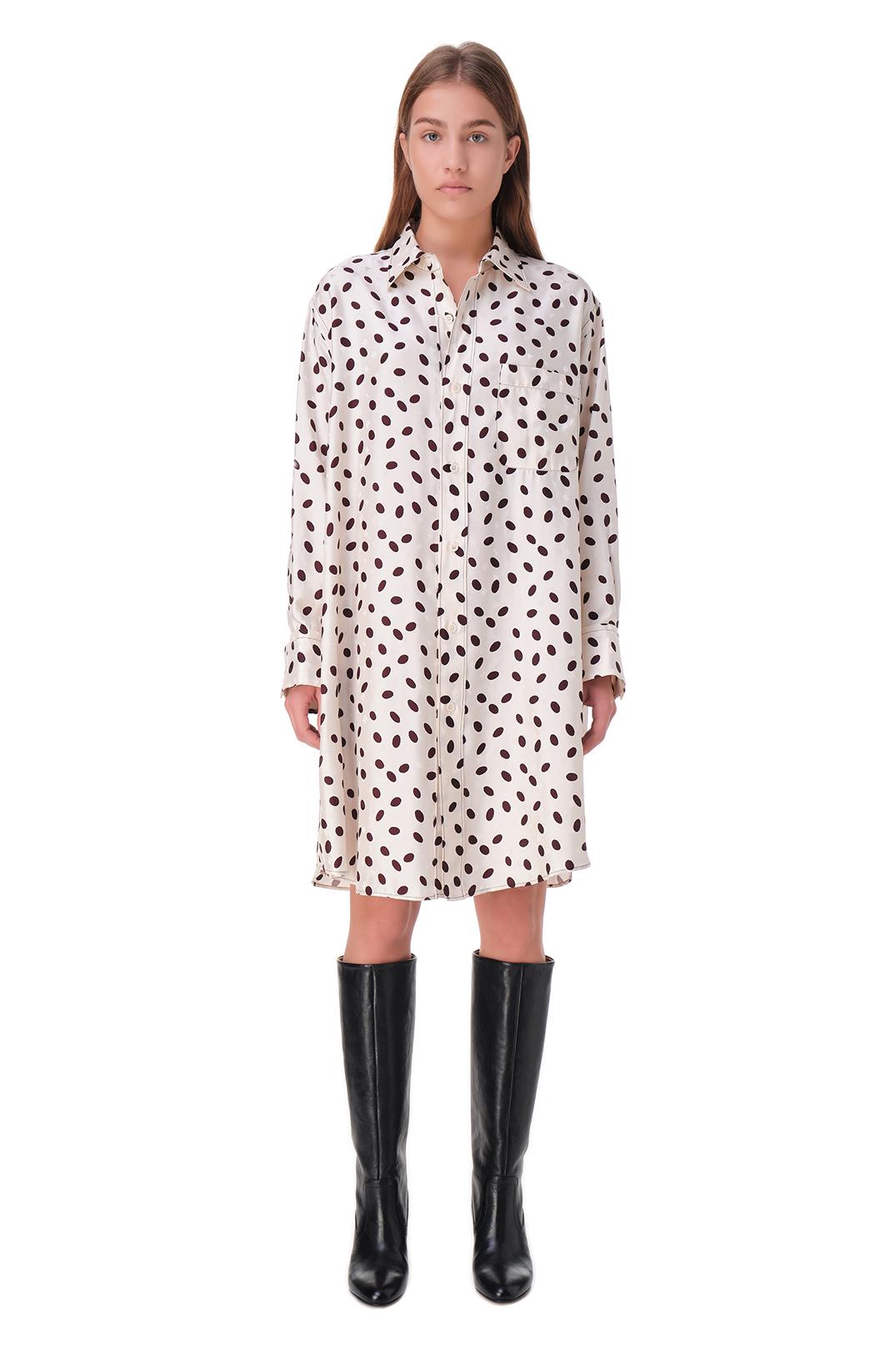 Платья-рубашка с принтом MARNI MAR20004