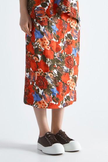 Юбка с цветочным принтом MARNI MARp19003