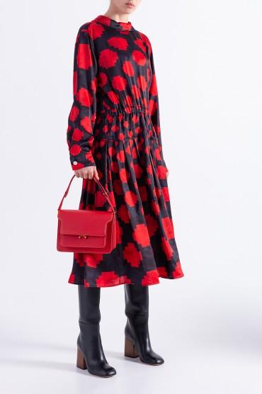 Платье с принтом MARNI MARw29001