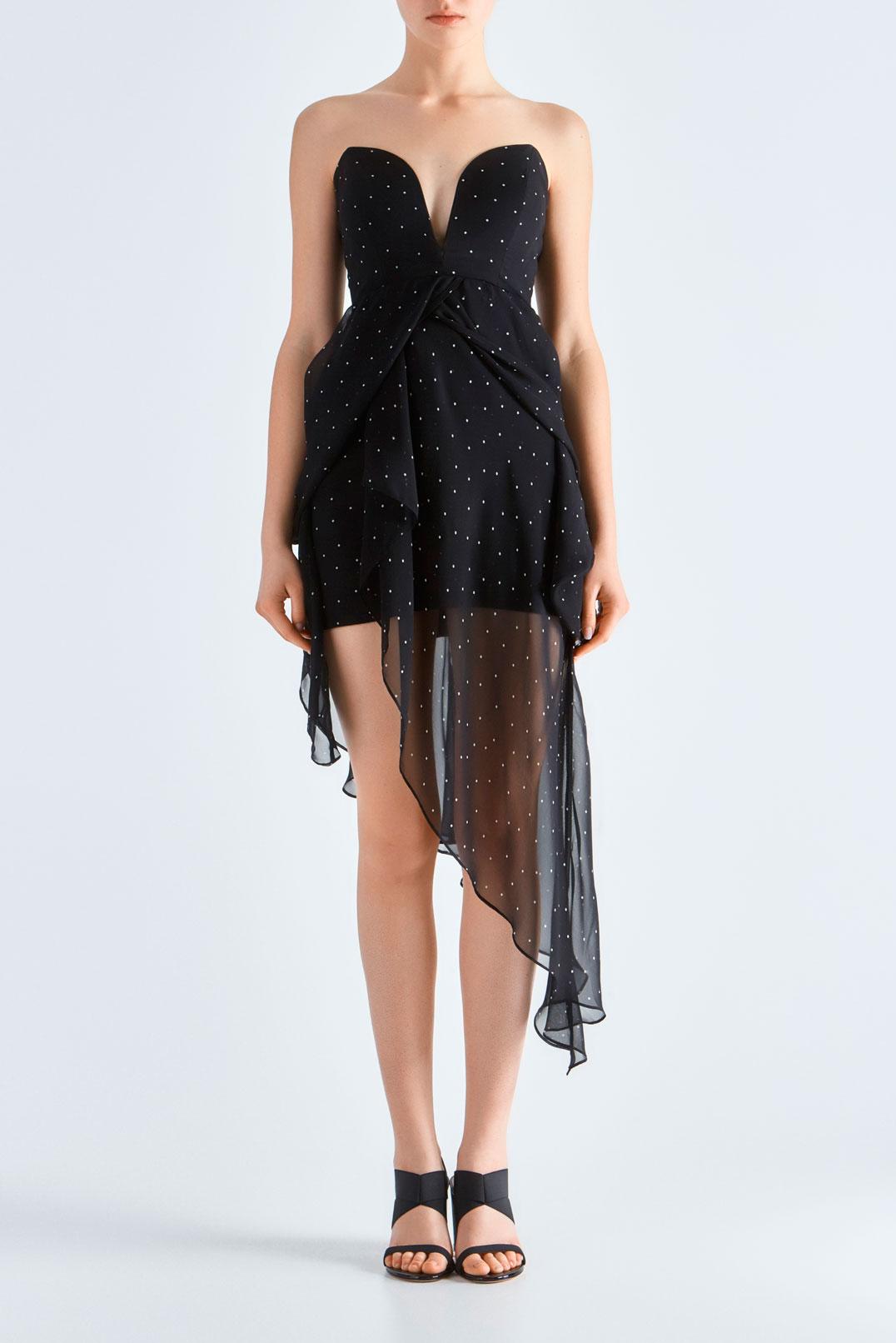 Платье бюстье в горох MICHELLE MASON MAS19007