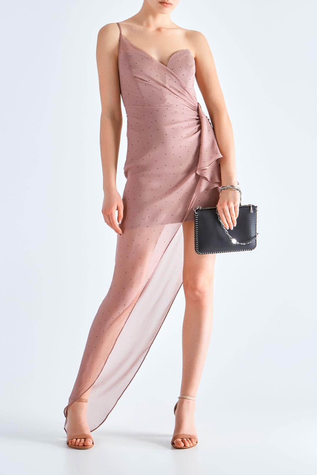 Асимметричное платье в горох MICHELLE MASON MAS19008