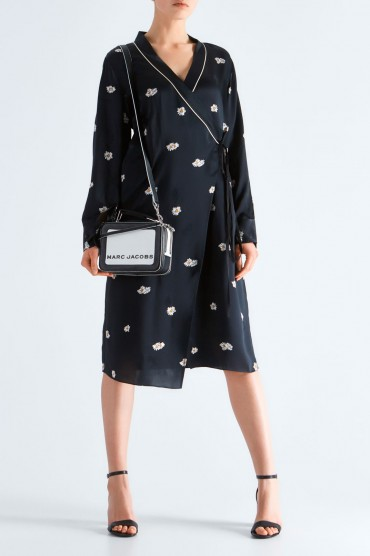 Платье на запах с принтом MO&CO EDITION MCEp19001