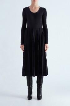 Платье c плиссированной юбкой