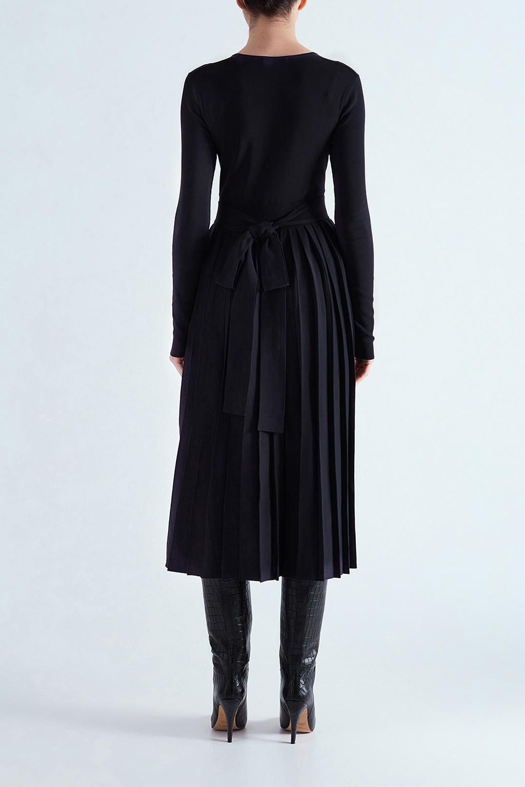 Платье c плиссированной юбкой MO&CO EDITION MCEw29006
