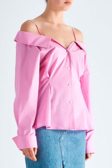 Рубашка со спущенными рукавами MO&CO MCp19015