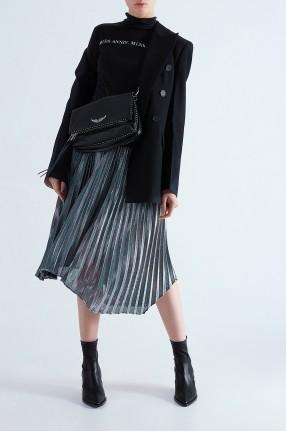 MO&CO Асимметричная плиссированная юбка